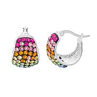 Crystal Radiance Rainbow Hoop Earrings