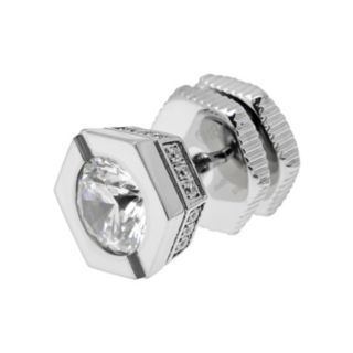 LYNX Cubic Zirconia Stainless Steel Stud - Single Earring