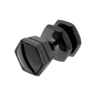 LYNX Black Ion-Plated Stainless Steel Screwhead Stud - Single Earring