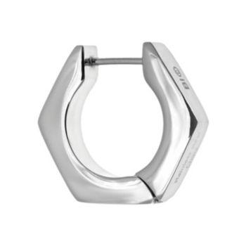 LYNX Stainless Steel Hex Nut Earring - Single Earring