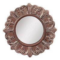 Stonebriar Collection Round Textured Wall Mirror
