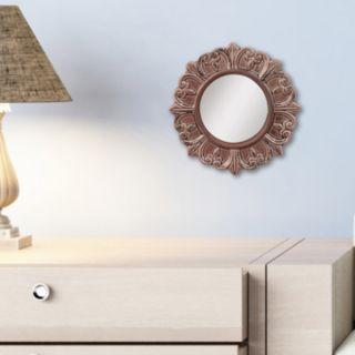 Stonebriar Collection Round Textured Wall Mirror