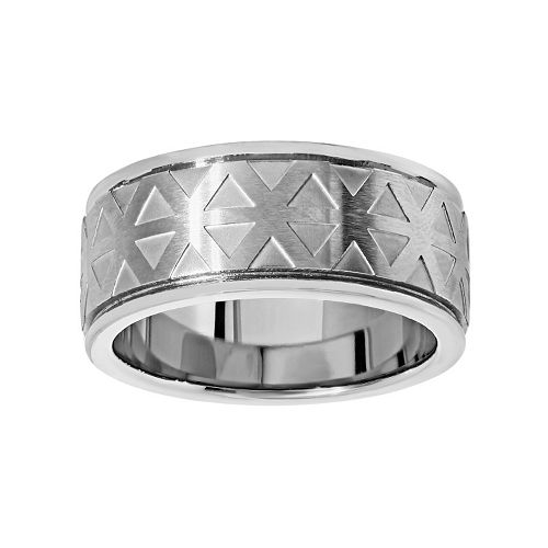 LYNX Titanium Geometric Band - Men