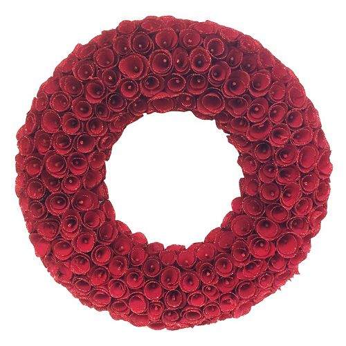 22 In Indoor Wood Curl Christmas Wreath