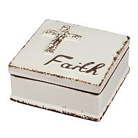 Stonebriar Collection ''Faith'' Ceramic Box