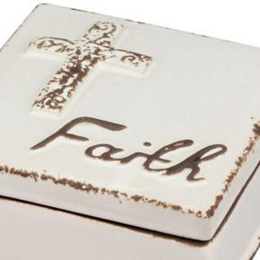 Stonebriar Collection ''Faith'' Ceramic Box
