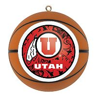 Utah Utes Basketball Christmas Ornament