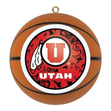 Utah Utes Basketball Christmas Ornament
