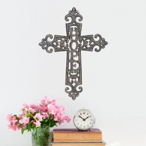 Stonebriar Collection ''Hope'' Cross Wall Decor