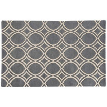 PANTONE UNIVERSE™ Optic Carved Circle Lattice Wool Rug - 10' x 13'