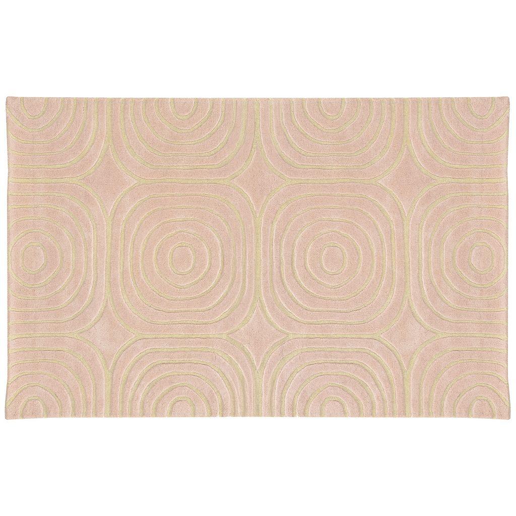 PANTONE UNIVERSE™ Optic Carved Geometric Wool Rug - 10' x 13'