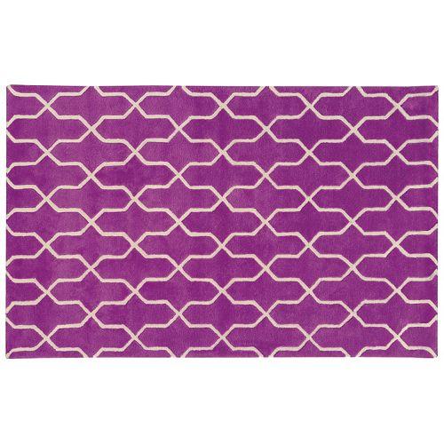 PANTONE UNIVERSE™ Optic Carved Lattice Wool Rug