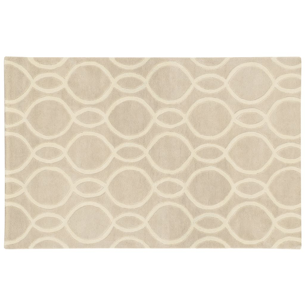 PANTONE UNIVERSE™ Optic Carved Oval Trellis Wool Rug