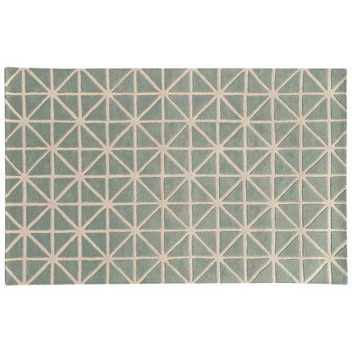 PANTONE UNIVERSE™ Optic Carved Diamond Gridwork Wool Rug