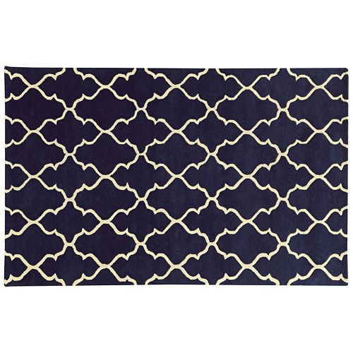 PANTONE UNIVERSE™ Optic Carved Scalloped Filigree Wool Rug