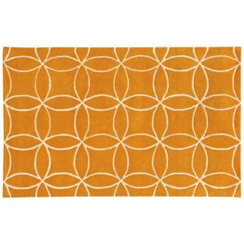 PANTONE UNIVERSE™ Optic Carved Interlocking Circles Wool Rug