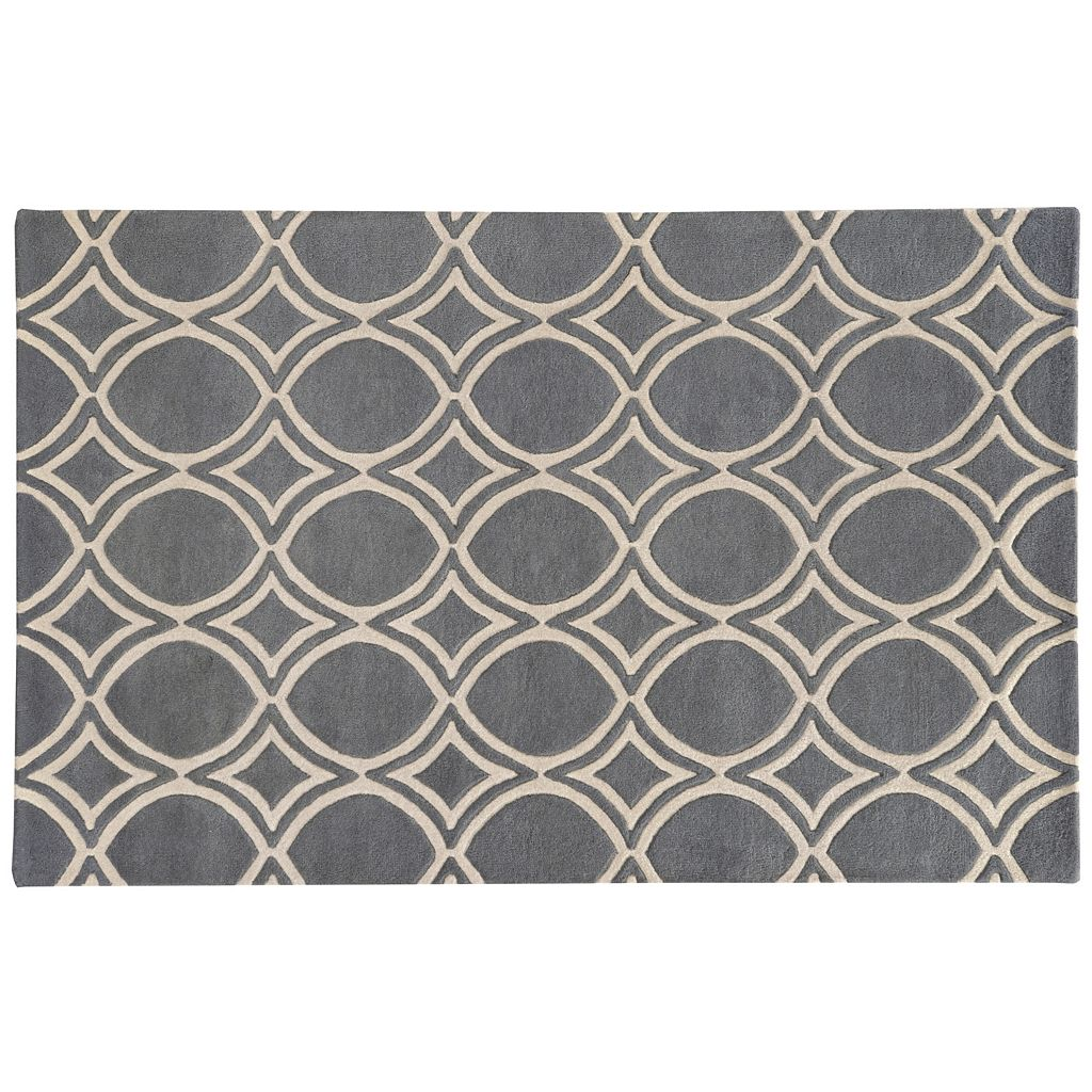 PANTONE UNIVERSE™ Optic Carved Circle Lattice Wool Rug