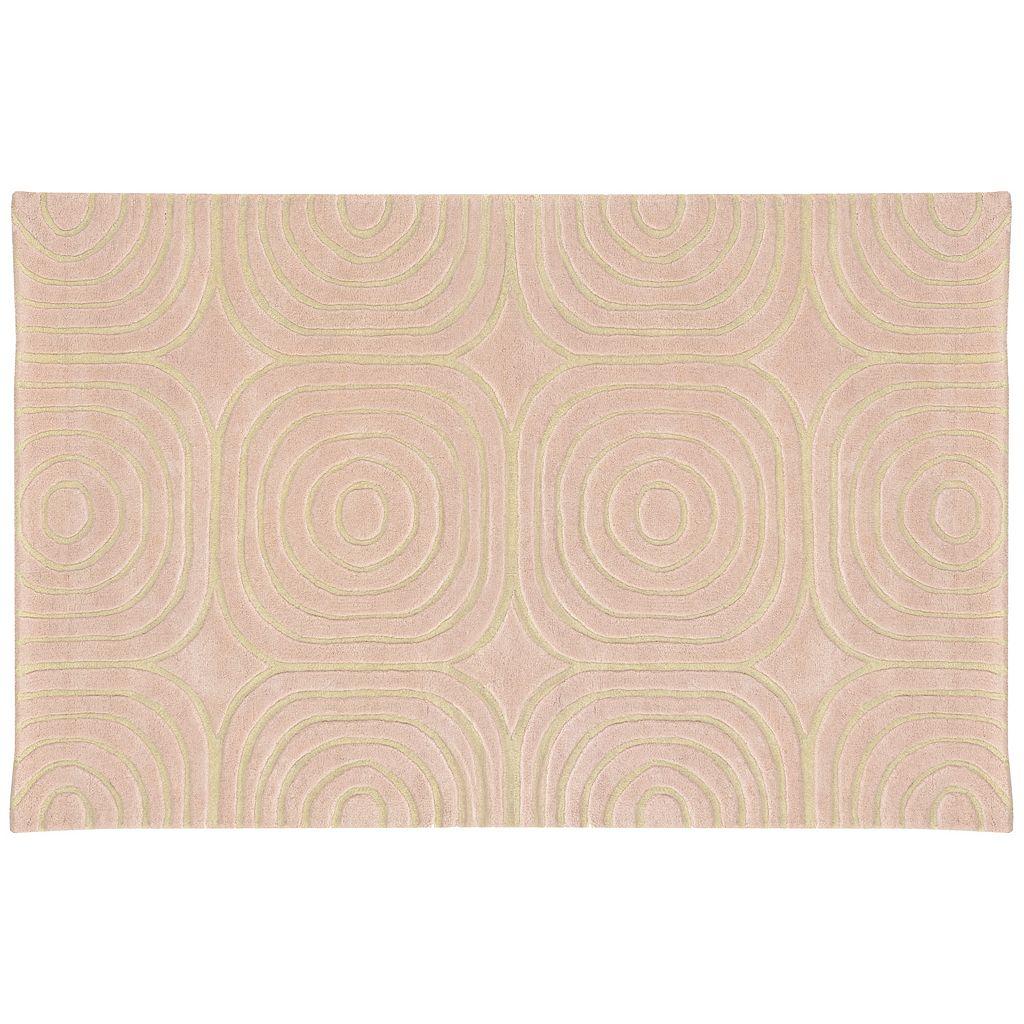 PANTONE UNIVERSE™ Optic Carved Geometric Wool Rug