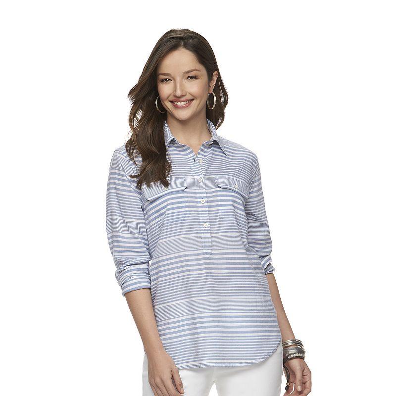 Women's Chaps Striped Shirt