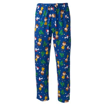 Peanuts Lounge Pants & Drink Koozie Set - Men