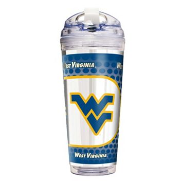 West Virginia Mountaineers Acrylic Tumbler With Metallic Wrap
