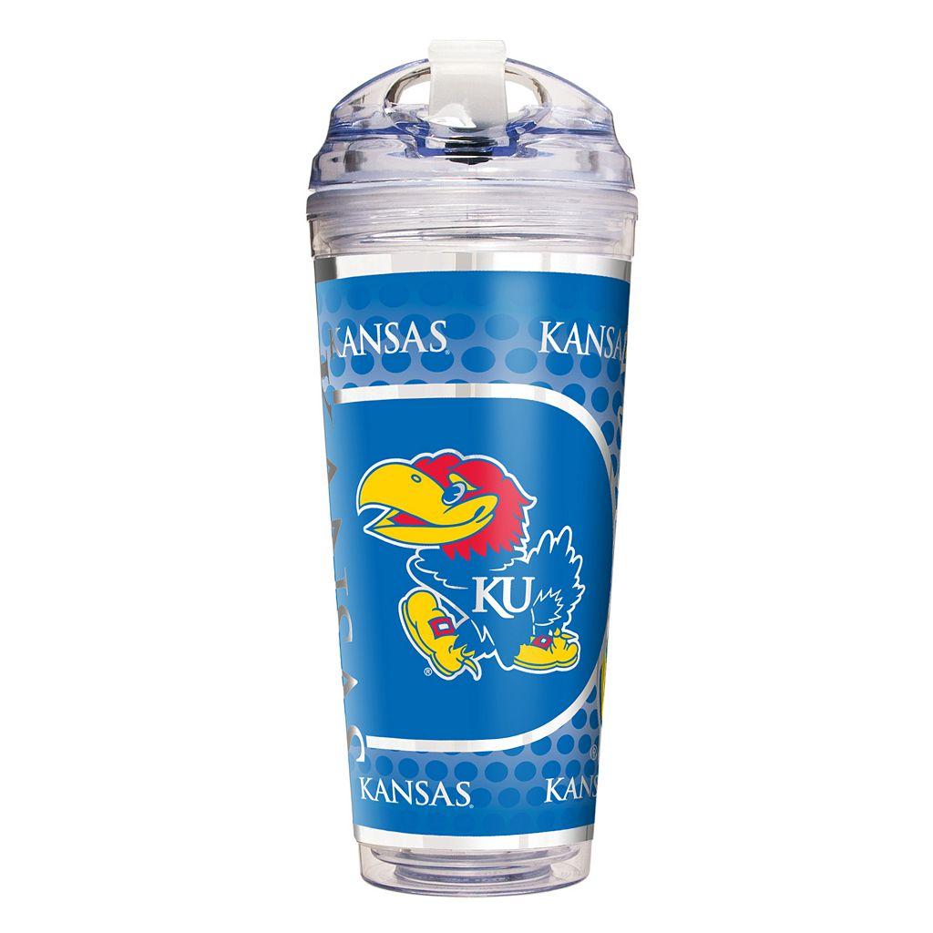 Kansas Jayhawks Acrylic Tumbler With Metallic Wrap
