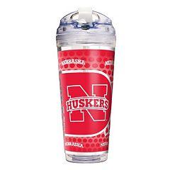 Nebraska Cornhuskers Acrylic Tumbler With Metallic Wrap