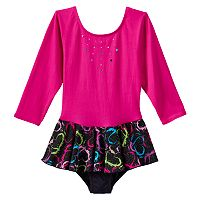 Jacques Moret Splashing Love Skirted Dance Leotard - Girls 4-14