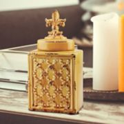 Stonebriar Collection Small Fleur-de-Lis Canister