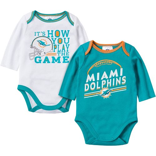 new product 71867 ef20c Baby Miami Dolphins 2-Pack Bodysuit Set