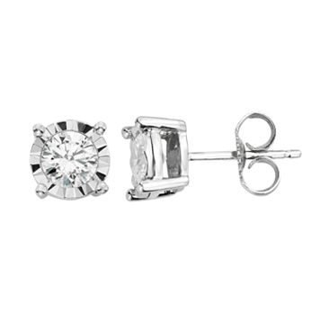 1/2 Carat T.W. Diamond 14k White Gold Stud Earrings