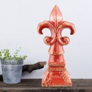 Stonebriar Collection Fleur-de-Lis Pedestal Decor