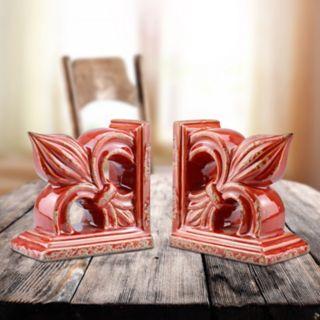 Stonebriar Collection 2-piece Fleur-De-Lis Bookend Set