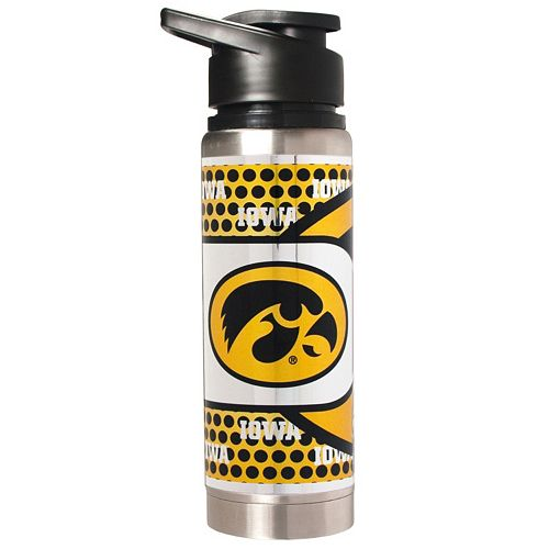 Iowa Hawkeyes Stainless Steel Water Bottle