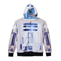 Boys 8-20 Star Wars: Episode VII The Force Awakens R2-D2 Costume Full-Zip Hoodie