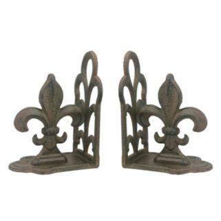 Stonebriar Collection 2-piece Rustic Fleur-De-Lis Bookend Set