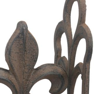 Stonebriar Collection 2-piece Rustic Fleur-De-Lis Bookend Set