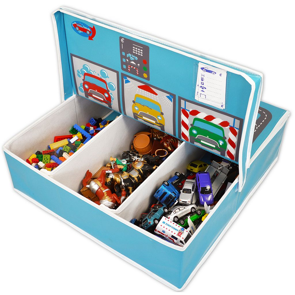 Fun2Give Pop-it-Up Garage with Road Play Mat and Storage