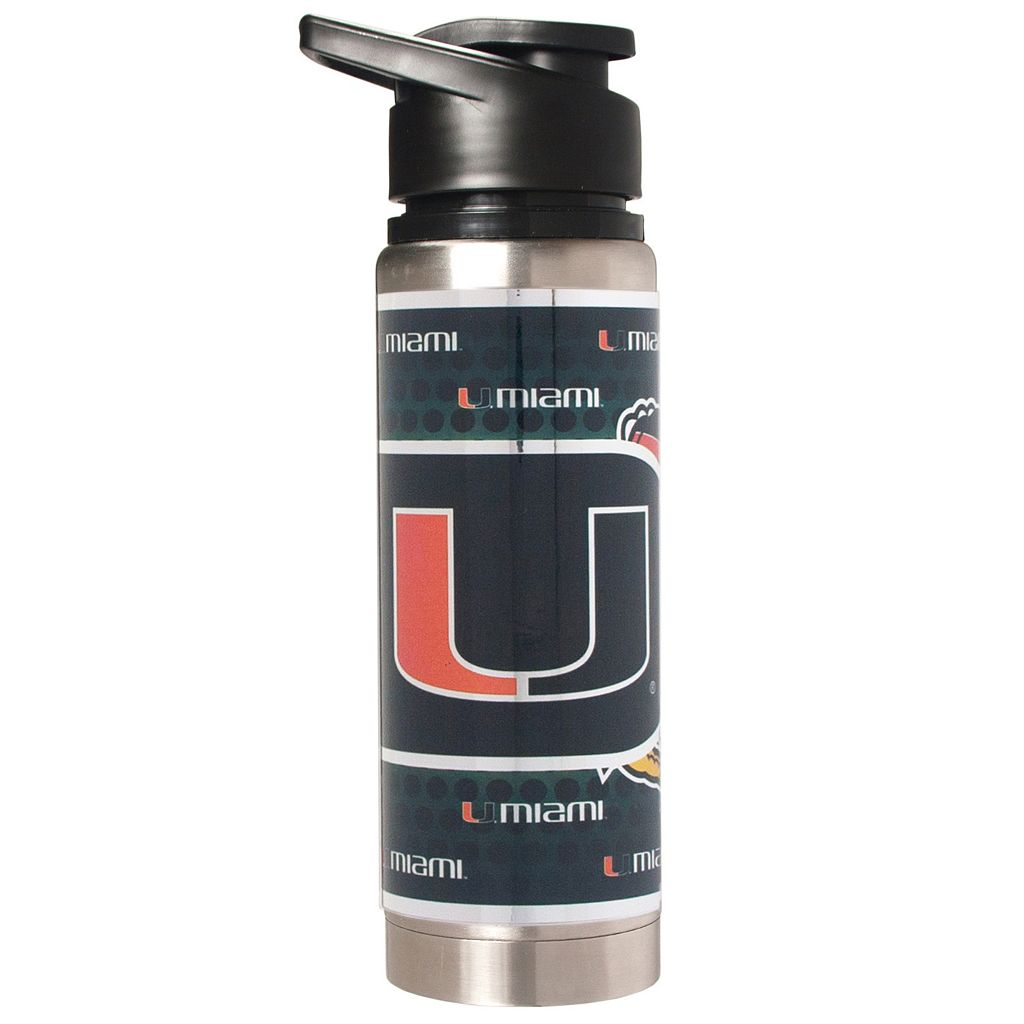 Miami Hurricanes Stainless Steel Water Bottle