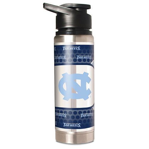 North Carolina Tar Heels Stainless Steel Water Bottle