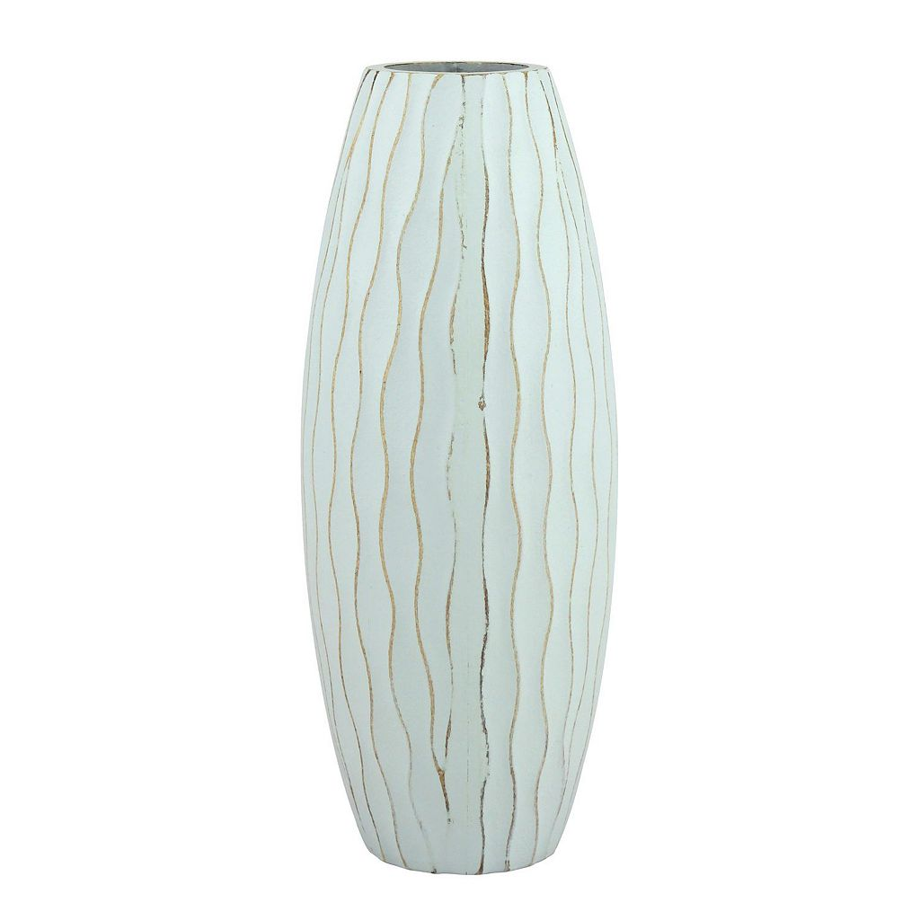 Stonebriar Collection Small Weathered Wood Vase