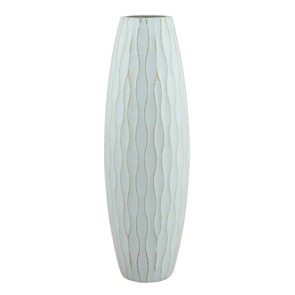 Stonebriar Collection Medium Weathered Wood Vase