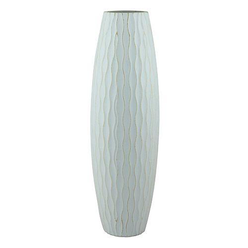 Stonebriar Collection Large Weathered Wood Vase