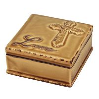Stonebriar Collection Love Distressed Ceramic Box
