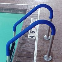 Blue Wave Pool Handrail Grips