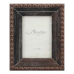 Stonebriar Collection 5' x 7' Rivet Rustic Wood Frame