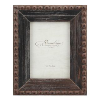 "Stonebriar Collection 5"" x 7"" Rivet Rustic Wood Frame"