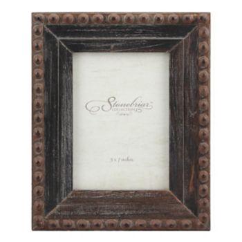 "Stonebriar Collection 5"" x 7"" Rivet Rustic Wood Frame"