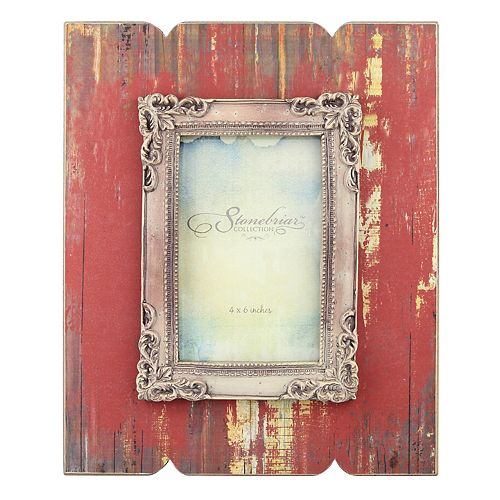 "Stonebriar Collection 4"" x 6"" Weathered Red Wood Frame"
