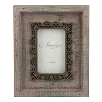 "Stonebriar Collection 4"" x 6""  Metal and Wood Frame"